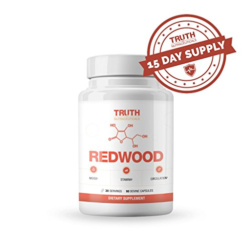 REDWOOD Nitric Oxide Booster to Improve Circulation, Lower Blood Pressure & Treat Varicose Veins, Natural Ingredients Include Vitamin C, Garlic Bulb Extract & Horse Chestnut Fruit Extract Bulb Extract