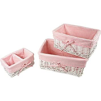 Amazon.com : Koala Baby 3-piece Basket Set - White-Dimensions: 14.1 x 9.5 x 6.8 Model: (Newborn, Child, Infant) : Baby