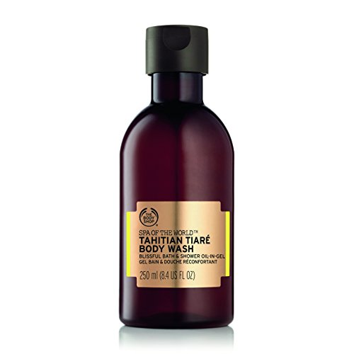 The Body Shop Spa of the World Tahitian Tiare Bath & Shower Oil-in-Gel, 8.4 Fluid Ounce