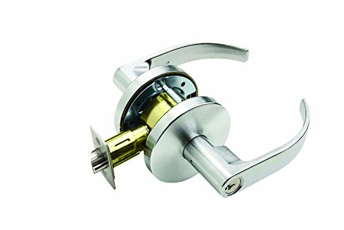 Falcon W581PD Q 626 C Keyway W Series Grade 2 Medium Duty Cylindrical Chasis Non-Handed Lock, Storeroom Function, Schlage C Keyway, 6 Pin Conventional Cylinder, Keyed Different, Quantum Lever, Satin Chrome Finish