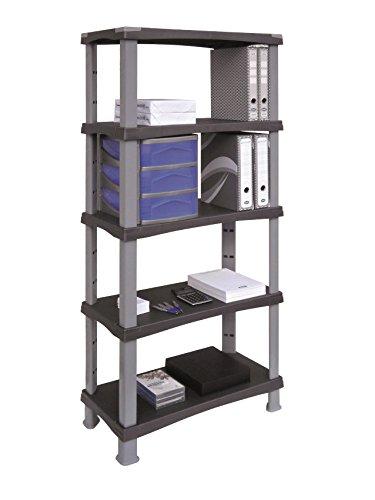 Bama Futuro with 5 Adjustable Shelves, Grey