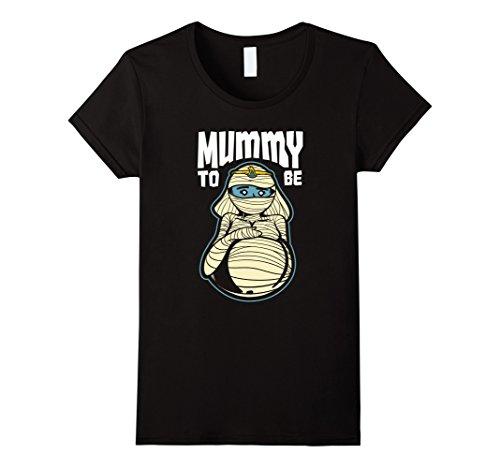 Mummy Costume For Pregnant (Womens Mummy Maternity Shirt Halloween Costume Tee Small Black)