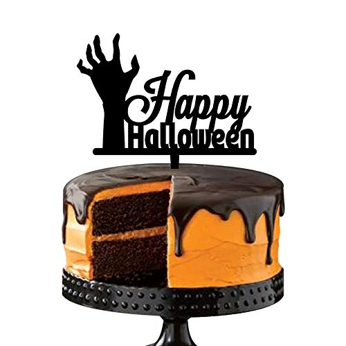 Halloween Decorations Cake Toppers, Zombie Hand,Scary Gothic Decor Party Gift, Black -