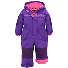 Pink Platinum Little Girls Snowsuit 1-Piece Winter Snowmobile Snowboard Ski Suit, Purple, 3T