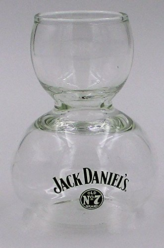Jack Daniel Distillery Old Sour Mash Tennessee Bourbon Whiskey Promotional Double Bubble Chaser Glass