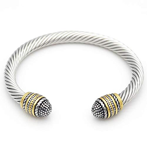 (Granny Chic Cable Bracelet Brand Cable Wire Bangle Elegant Beautiful Imitation Pearl Valentine)