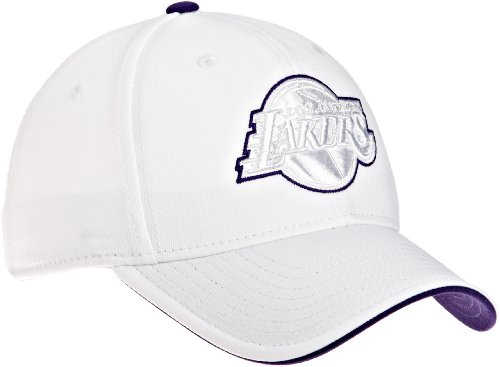 NBA Women's Los Angeles Lakers White Structured Flex - Ty13Z, Large/X-Large , White