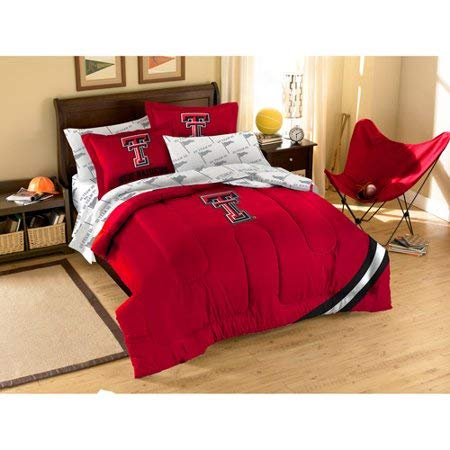 Bed-in-a-Bag Texas Tech Twin Bedding Set Comforter and Sheets