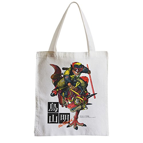 Grand Sac Shopping Plage Etudiant sangoku goku original dinosaure baton magique kinto dragon ball manga