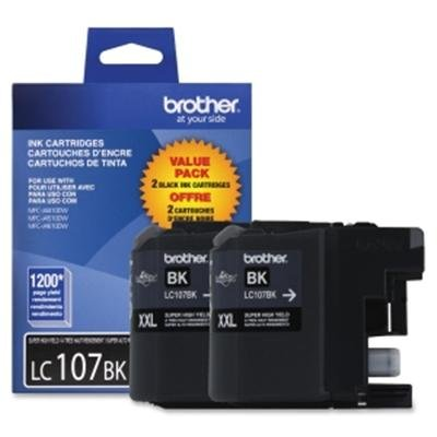 Brother International 2 Pack LC107BK