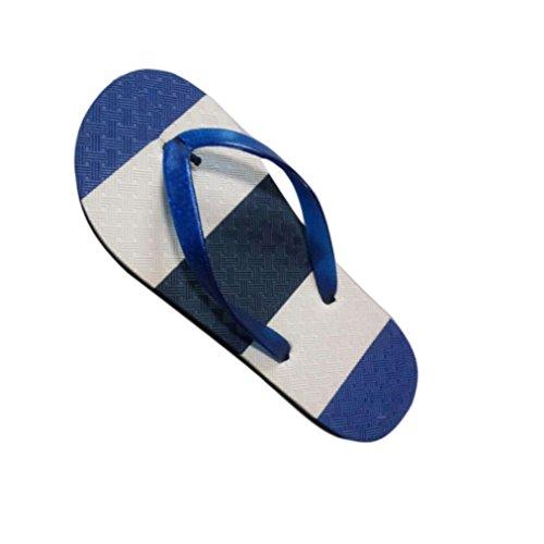 Voberry Hommes Été Cool Tongs Sandales De Plage Bordées Non Glissement Pantoufles Hommes Bleu