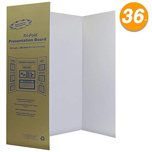 (White Tri-Fold Presentation Board 36