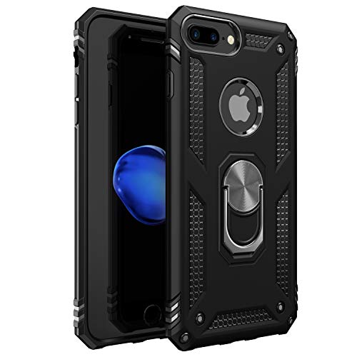 iPhone 7 Plus Case | iPhone 8 Plus Case [ Military Grade ] 15ft. Drop Tested Protective Case | Kickstand | Wireless Charging | Compatible with Apple iPhone 8Plus / iPhone 7 Plus Case - Black
