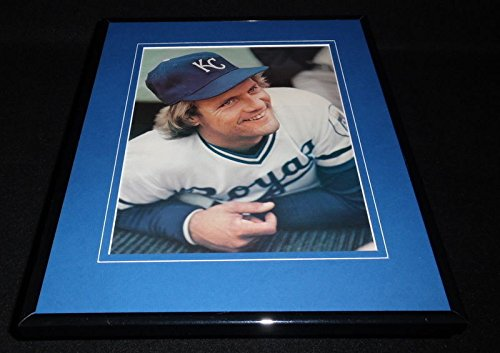 George Brett Framed 11x14 Photo Display 1981 KC - Photo Brett Framed George