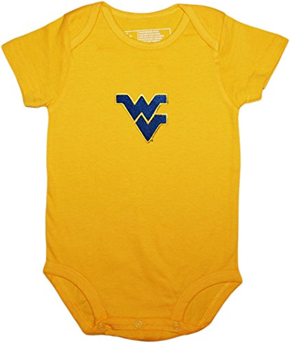 Creative Knitwear West Virginia Newborn Baby Clothes, Mountaineers, Boy and Girl College Bodysuit