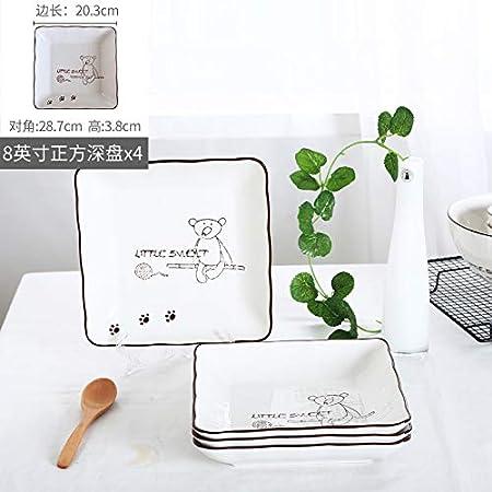 Miro Bear Plate Set Home Creative Western Plato Plato Sopa Plato ...