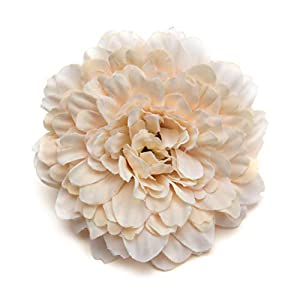 Artificial Flower Heads in Bulk Wholesale for Crafts Artificial Silk Wedding Floral Decoration Marigold DIY Party Festival Decor Home Decorations Crafts Fake Flowers 15PCS/lot 6cm (Milk White) 34
