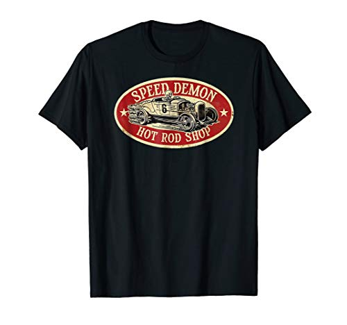 (SPEED DEMON T Shirt! Vintage Cool Hot Rod)