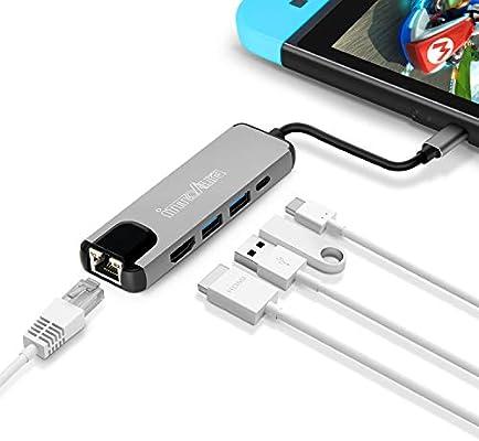 Hub USB C, innoAura 5 en 1 Adaptador USB Tipo C de 4K a HDMI ...