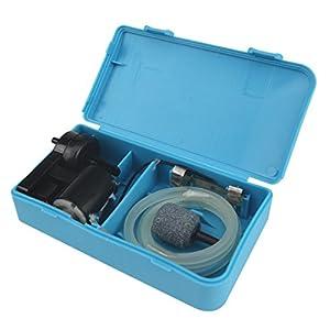 LILYS PET Portable Aquarium Fish Tank Oxygen Air Pump,Battery Backup Operated Fish Tank Air Pump