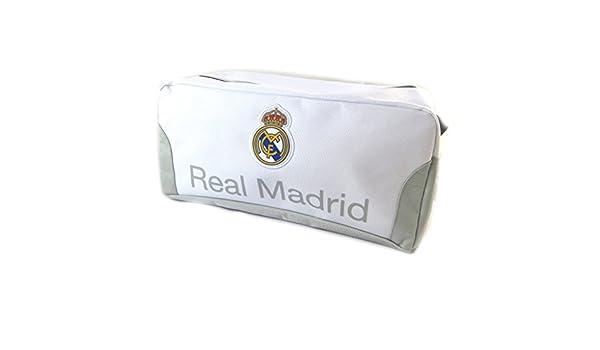 Kit de aseo Real Madridgris blanco - 33x17x15 cm.: Amazon.es: Equipaje