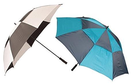 IKO para una Vista más Grande Haga Clic en la Imagen Paraguas XXL 120 cm Azul Plata Dos Colores Golf Paraguas: Amazon.es: Hogar