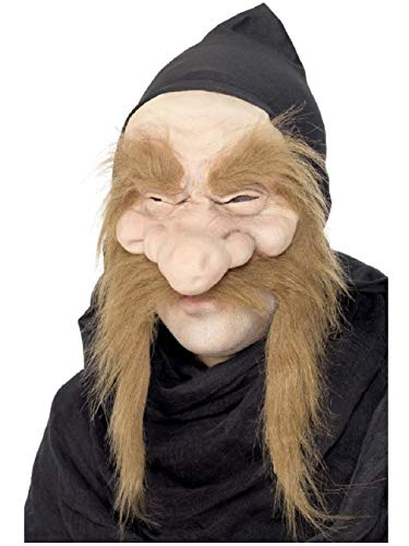 Adult Gold Digger Garden Gnome Dwarf Mask with Hood Costume Accessory ()