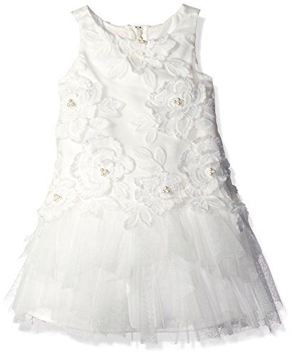 Biscotti Toddler Girls' Wedding Party Dress with Embroidered Bodice, Ivory, 2T by Biscotti