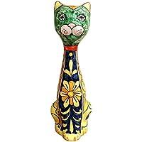 CERAMICHE D'ARTE PARRINI - Ceramic Cat Figurine Italian Art Pottery Design Deruta Made in ITALY Tuscan