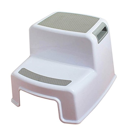 LIYONG Stool, Children's Plastic Stool, Ottoman, Baby Small Bench, Anti-skid Step Ladder, Foot Stool (Color : A) ()