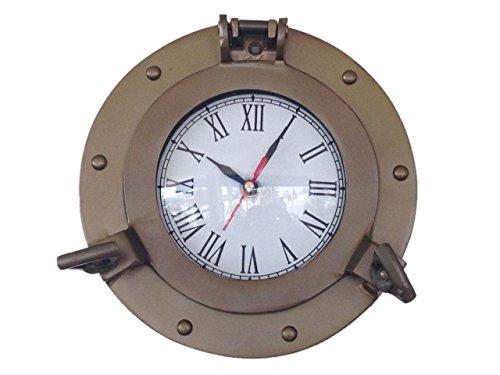 "Hampton Nautical  Decorative Ship Porthole Wall Clock, 8""..."