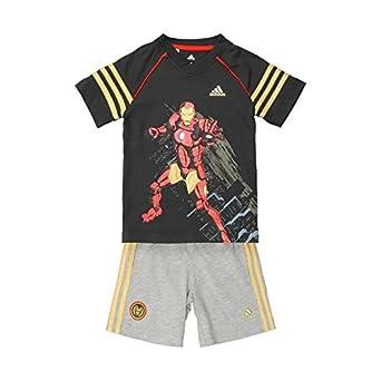 adidas Disney de los Vengadores Iron Man Verano Set - niños - Gris ...