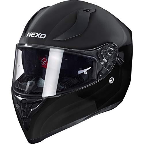 Nexo Integralhelm Motorradhelm Helm Motorrad Mopedhelm Sport II, herausnehmbare Polster, Be-, Entlüftung, Windabweiser…