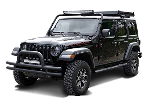 Black Rock Front Bumper Bumper Bumper Bull Catcher Black Textured: