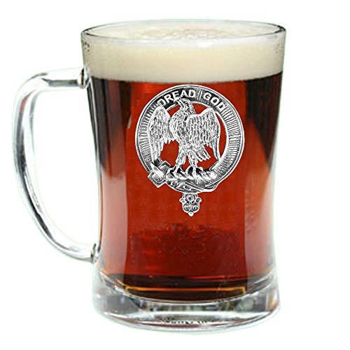 Scottish Beer (Munro Scottish Clan Crest Badge Glass Beer Mug)