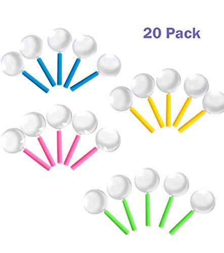 SBYURE 20 Pack Mini Plastic Magnifying Glasses Pocket Children Detective for Childrens Party Favors,Childrens Toys,Gift, Prize
