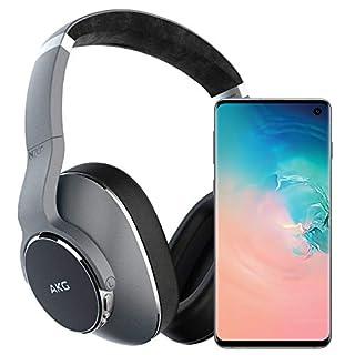 Samsung Galaxy S10 Factory Unlocked Phone with 128GB, (U.S. Warranty) - Prism White w/AKG N700NC Headphones