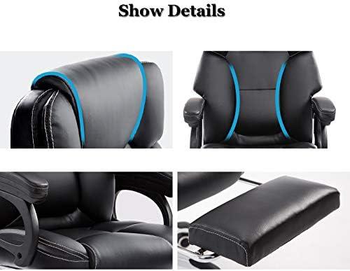 WQAB-Chaise Pivotante Chaises de Bureau d'ordinateur Chaises pivotantes 47-53 cm Tabouret d'ascenseur réglable Siège Social Salle d'étude Chaise 360 ° roulettes pivotantes Blanc