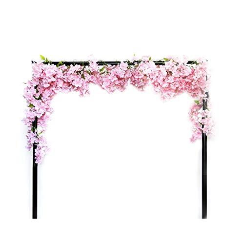 Li Hua Cat Simulation Cherry Blossom Garland Artifical Plants Hanging Vine Silk Garland Wedding Party Decor 1 piece (Pink)
