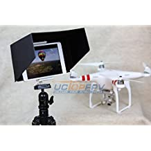 Summitlink® (P2B10CA) 10 Inch Tablet iPad Sun Hood Sun Shade (Fits up to 11 inch) White with Tripod Mount for all version iPad 1 2 3 Air 2 Compatible with DJI DJI Phantom 3 Professional Advanced Inspire 1 Phantom 2 Vision+ FC40 Transmitter