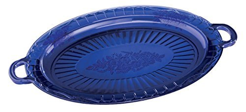 Cobalt Blue Glass Serving Platter by Miles Kimball ()