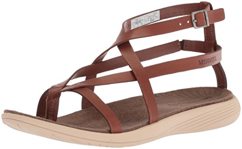 Womens Cushioned Thong Leather Oak Seaway ladies Sandals Duskair Merrell aBTnqdpa