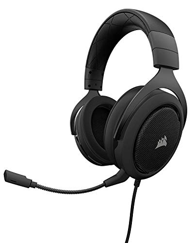CORSAIR HS50 – Stereo Gaming Headset – Discord Certified Headphones – Carbon (Certified Refurbished)