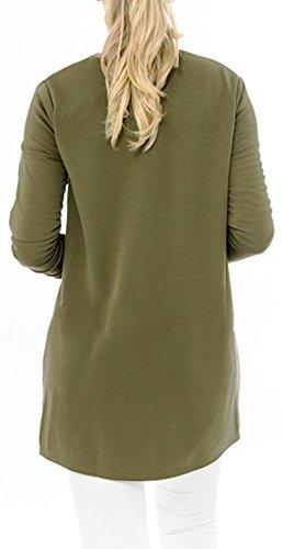 Fermeture Blouson Longue Veste Femme Vert clair Eudolah Uni wXn4Tq5xn8