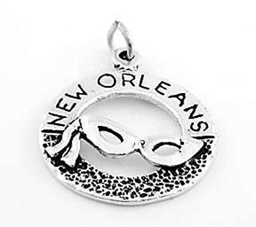 Sterling Silver New Orleans Mardis GRAS w/MASK Charm