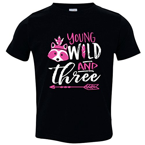 Young Wild and Three, Girl Birthday, Size 3 by Feisty and Fabulous