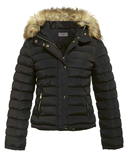 SS7 Women's Padded Winter Quilted Fur Parka Jacket, Sizes 8 to 16