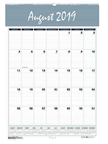 House of Doolittle 2019-2020 Monthly Wall Calendar, Academic, Bar Harbor, 22 x 31.25 Inches, August - July (HOD354-20)