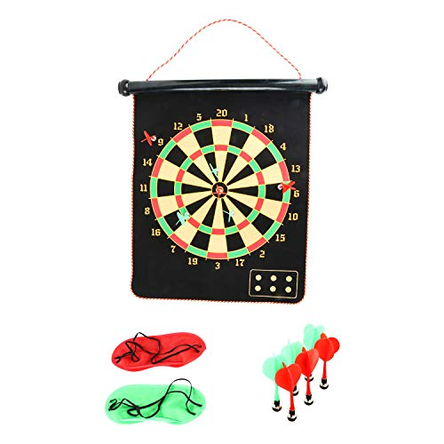 Yaegoo Safety Magnetic Dart Board for Kids Teens, Indoor Outdoor Double Sided Dartboard Bullseye Games for Boys Teens Adults Family Carnival Birthday Party Games Leisure Sports from Yaegoo