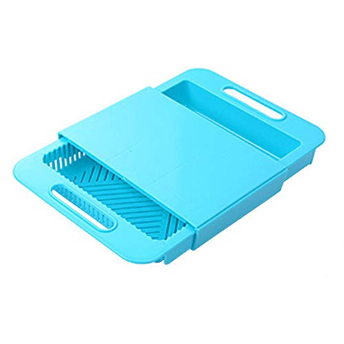 (Springdoit Multifunction Chopping Board Cutting Board Sturdy Retractable Multicolor Chopping Board Drain Basket)